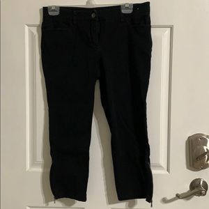 Women's NY & Co mid rise cropped pants